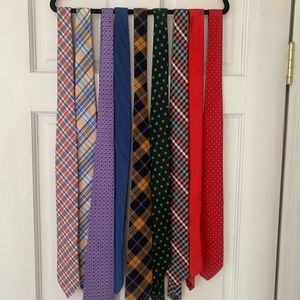 9 assorted ties